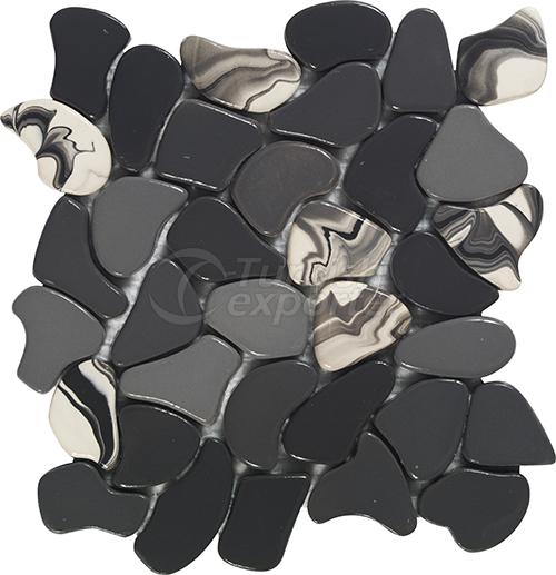 Porcelain mosaic tile Puzzle Small1