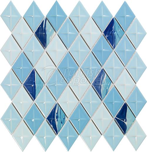 Porcelain mosaic tile Diamond