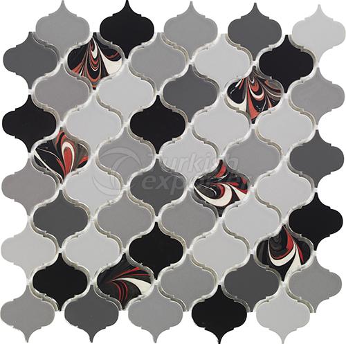 Porcelain mosaic tile Arabesque 4