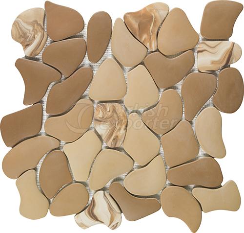 Porcelain mosaic tile Puzzle XL