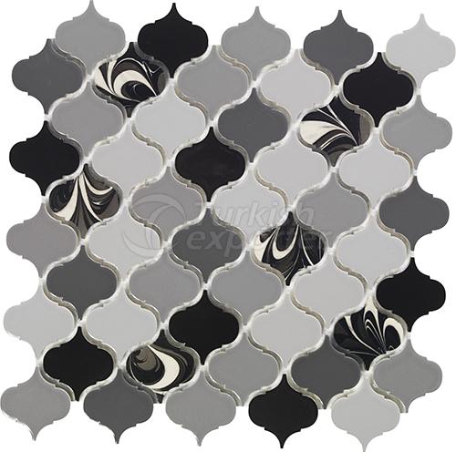 Porcelain mosaic tile Arabesque2