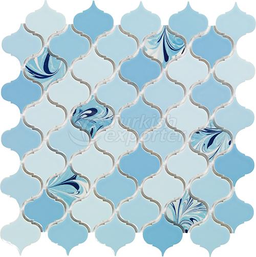 Porcelain Mosaic Tile Arabesque