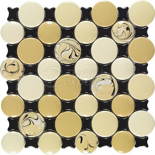 Porcelain mosaic tile Fisheyed 1