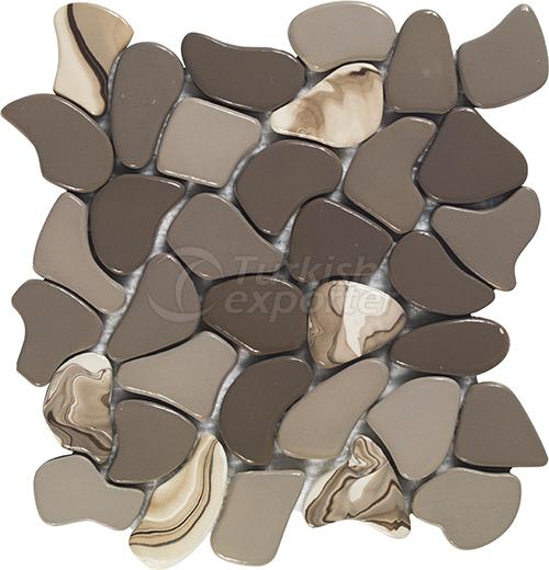 Porcelain mosaic tile Puzzle Small