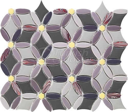 Porcelain mosaic tile Flower type
