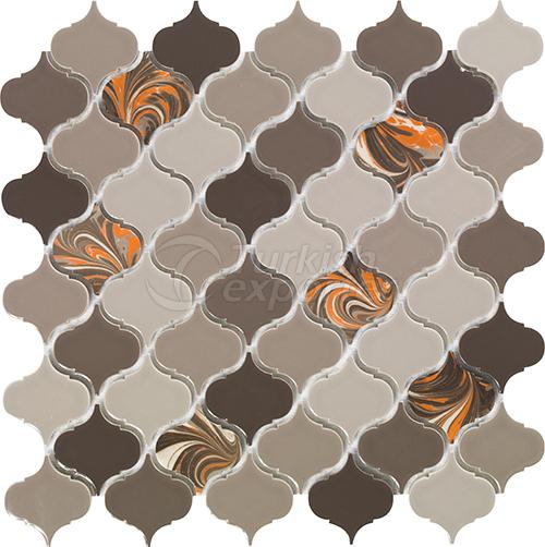 Porcelain mosaic tile Arabesque1