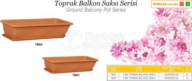Ground Balcony Pot