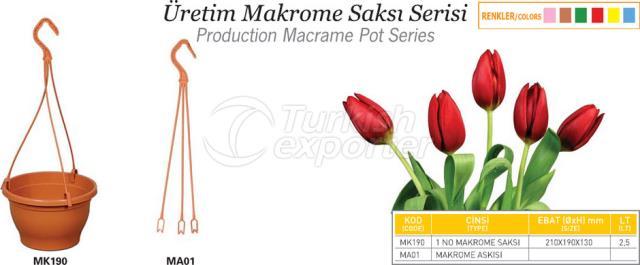 Production Macrame Pot