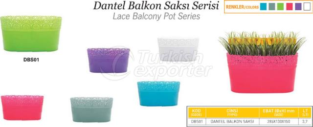 Lace Balcony Pot