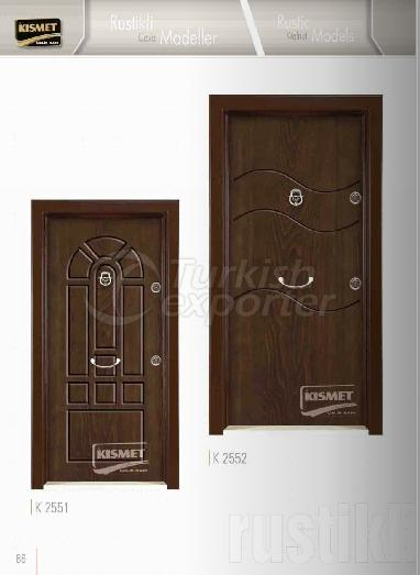 Rustic Walnut Panel Doors