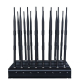 Adjustable 16 Antennas Powerful GSM 3G 4GLTE 4GWimax Phone Blocker & WiFi UHF VHF GPS Lojack Remote