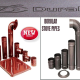BLACK AND BROWN CLOUR STOVE PIPES