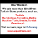Sale Turkish Marble,Granite,Travertine,Onyx,Granite and Quarries